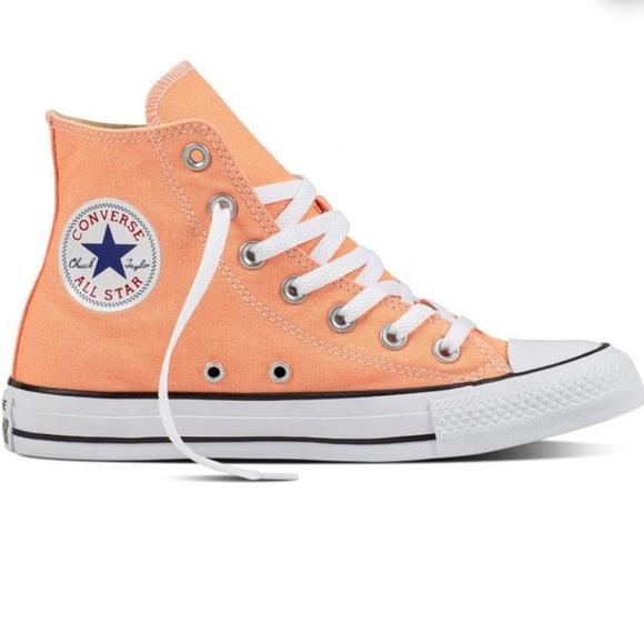 Converse Shoes | Peach High Tops | Poshmark